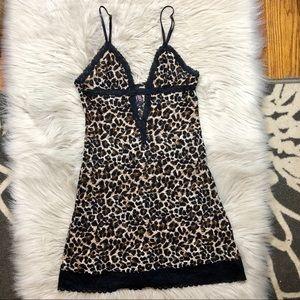 Victoria's Secret leopard lace lingerie nightgown